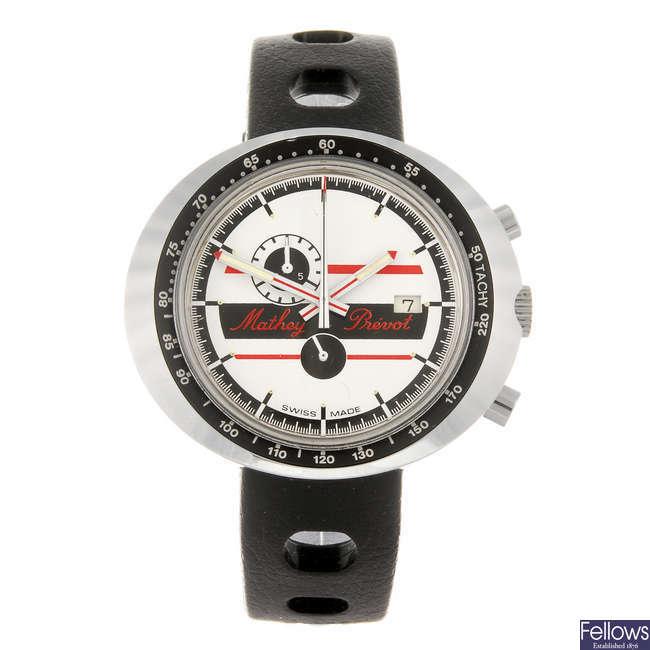 MATHEY PREVOT - a gentleman's chronograph wrist watch.