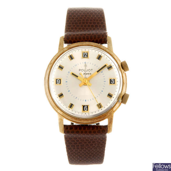 POLJOT - a gentleman's alarm wrist watch together with a gentleman's Roamer wrist watch.