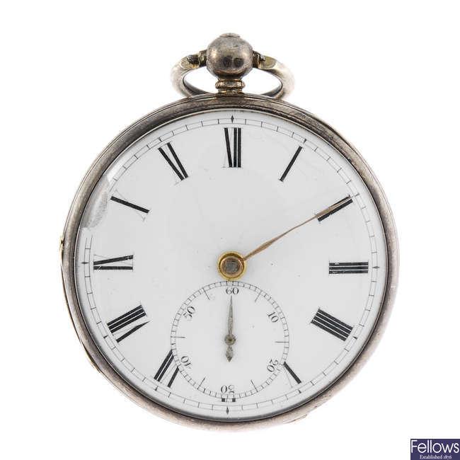 An open face pocket watch by Henry Pidduck, Hanley.