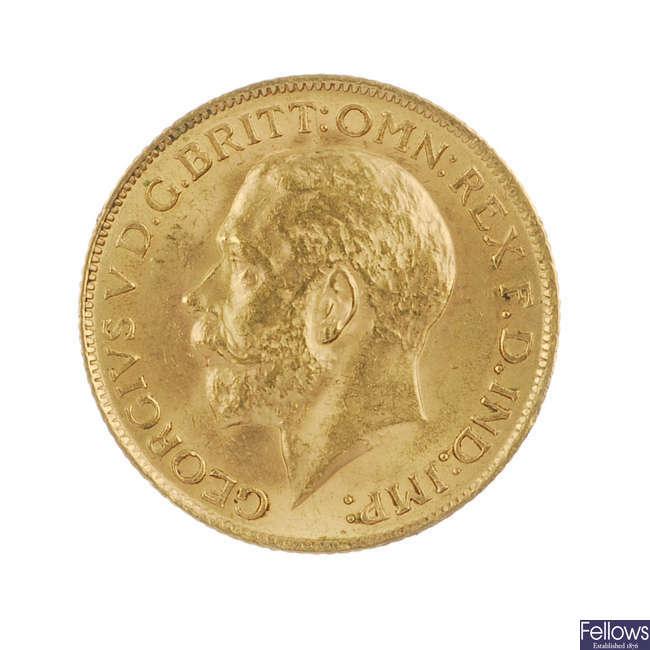 George V, Sovereign 1913.