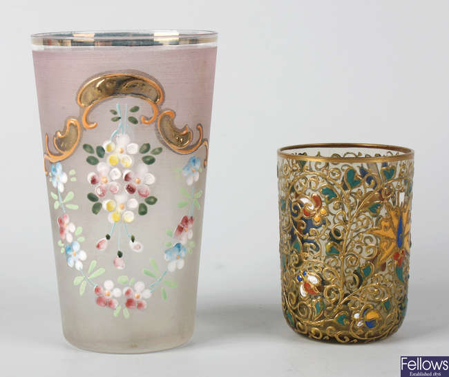 A group of Moser glass items