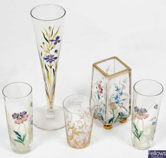 Five items of Moser glass