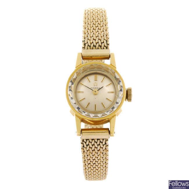 OMEGA- a lady's bracelet watch.
