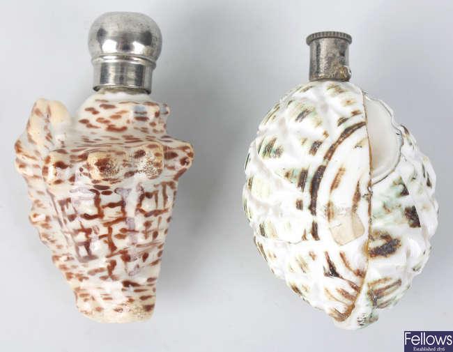 Four scent flasks