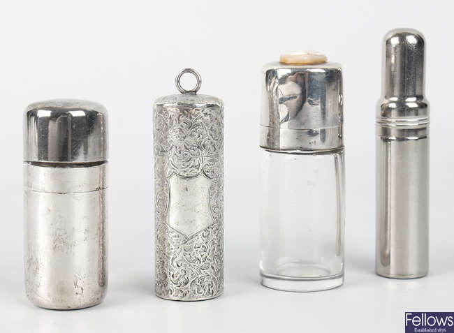 Five scent bottles