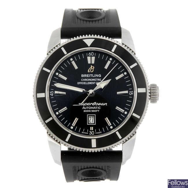 BREITLING - a gentleman's SuperOcean Heritage wrist watch.