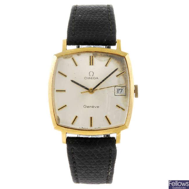 OMEGA - a gentleman's Geneve wrist watch.