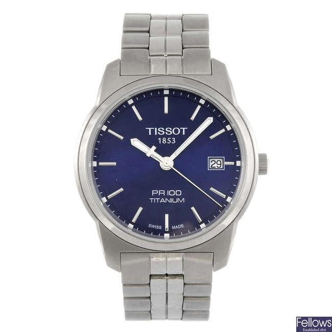 TISSOT - a gentleman's PR100 bracelet watch with a Tissot PR50 bracelet watch.