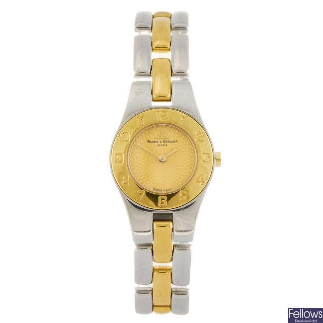 BAUME & MERCIER - a lady?s Linea bracelet watch.