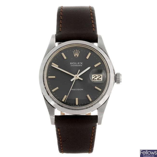 ROLEX - a gentleman's Oysterdate Precision wrist watch.