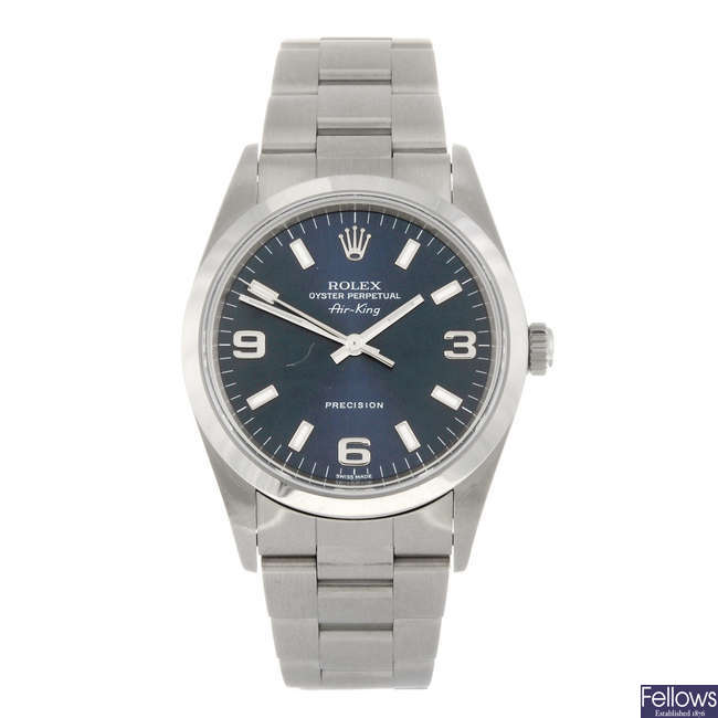 ROLEX - a gentleman's Oyster Perpetual Air-King bracelet watch.