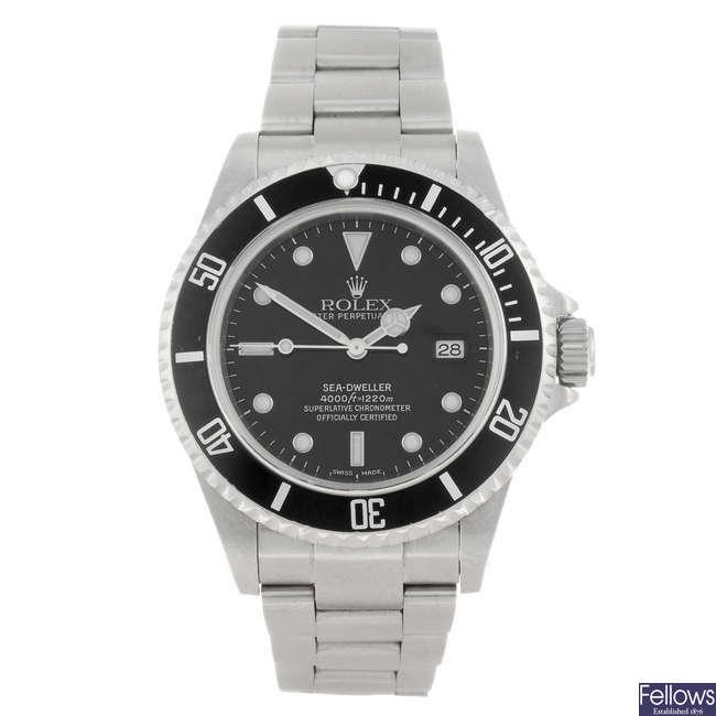 ROLEX - a gentleman's Oyster Perpetual Date Sea-Dweller bracelet watch.