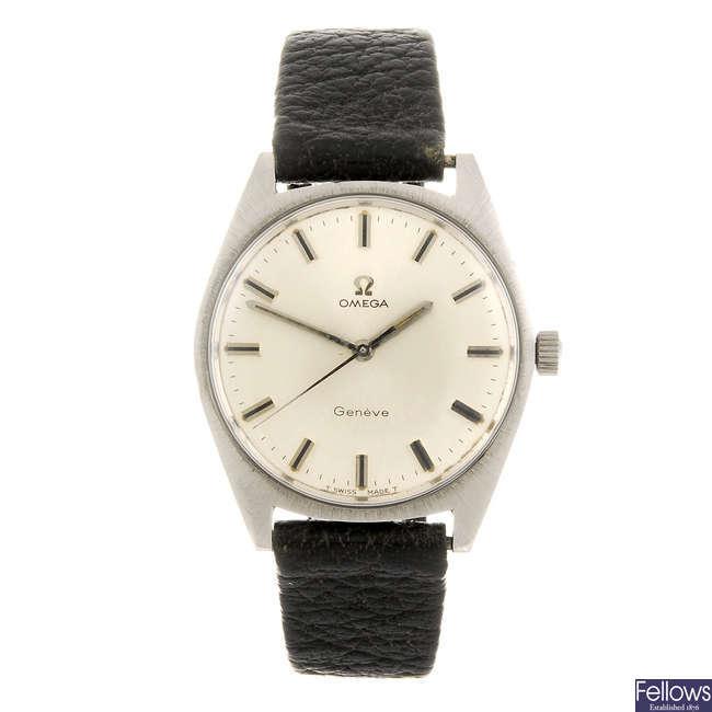 OMEGA- a gentleman's Geneve wrist watch.