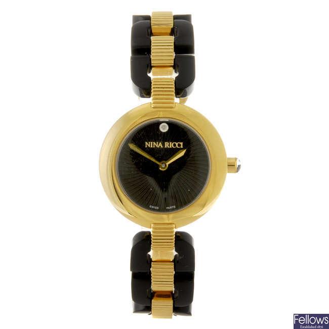 NINA RICCI - a lady's bracelet watch.