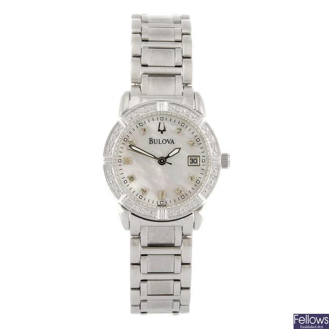 BULOVA - a lady's bracelet watch.