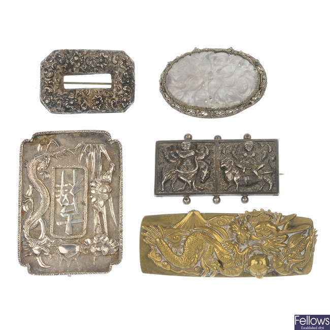 A selection of mainly oriental design jewellery.