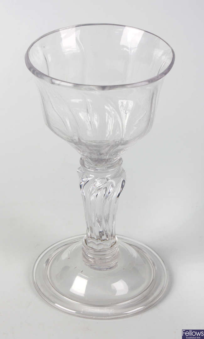 An 18th century champagne glass