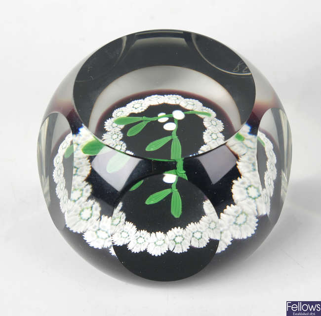 A Caithness limited edition 1978 Christmas paperweight
