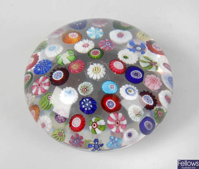 A Clichy spaced millefiori paperweight