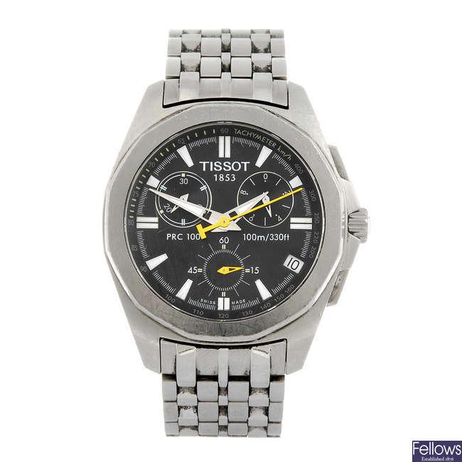 TISSOT - a gentleman's PRC100 chronograph bracelet watch.