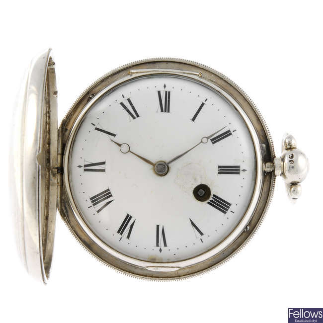 A full hunter pocket watch by William Broad.