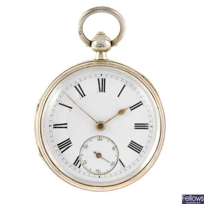 An open face pocket watch.