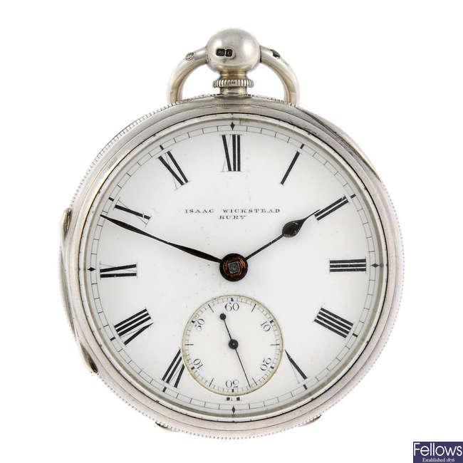 An open face pocket watch by Isaac Wickstead.