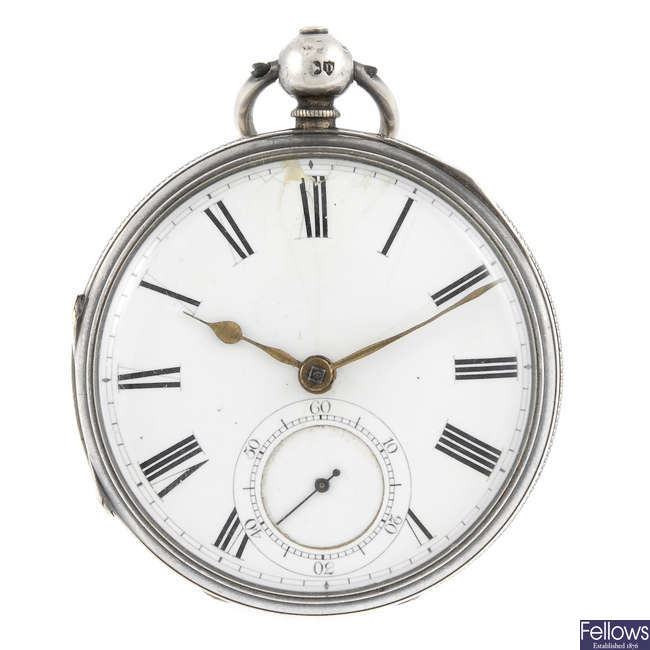 An open face pocket watch by James Smith.