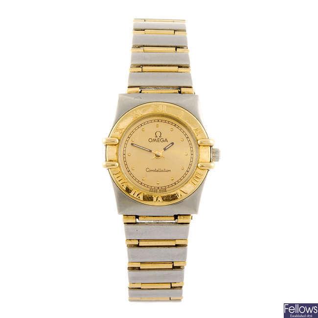 OMEGA-a lady's Constellation bracelet watch.