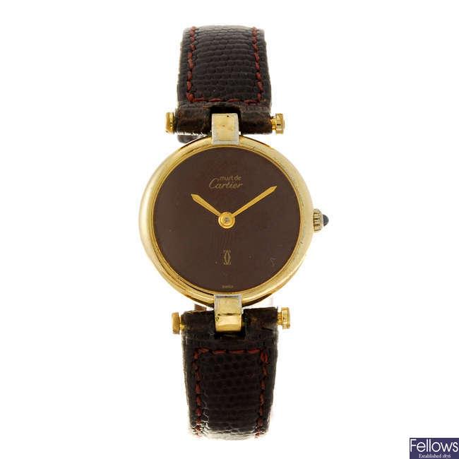 CARTIER - a Must De Cartier Vendome wrist watch.