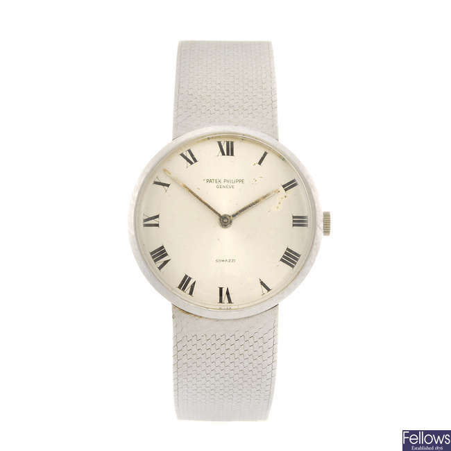 PATEK PHILIPPE - a gentleman's bracelet watch.