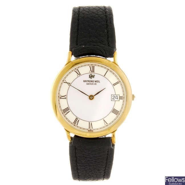 RAYMOND WEIL - a gold plated quartz gentleman's wrist watch.