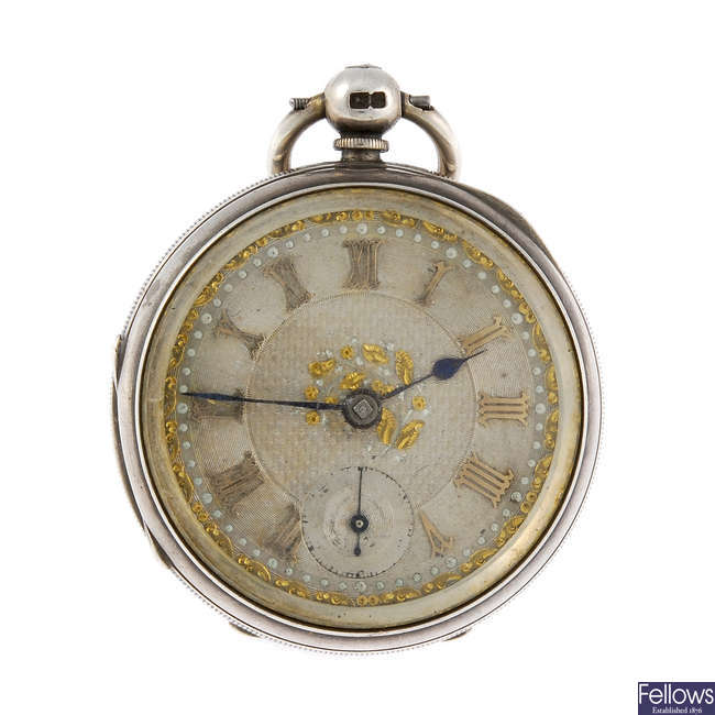 An open face pocket watch by Adam Burdess, Coventry.