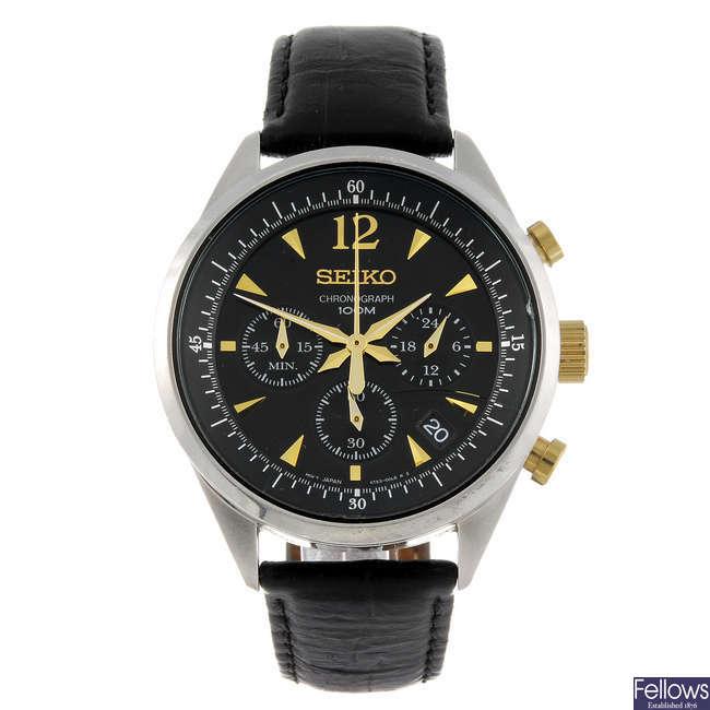 SEIKO - a gentleman's chronograph wrist watch.