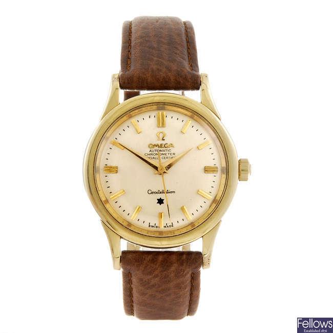 OMEGA- a gentleman's Constellation wrist watch.