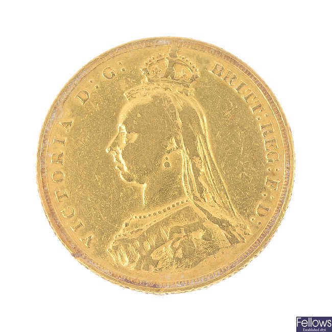 Victoria, Sovereign 1887.