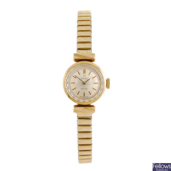 OMEGA - a lady's De Ville bracelet watch.