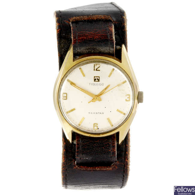 TISSOT - a gentleman's Seastar wrist watch together with four watches of various brands.