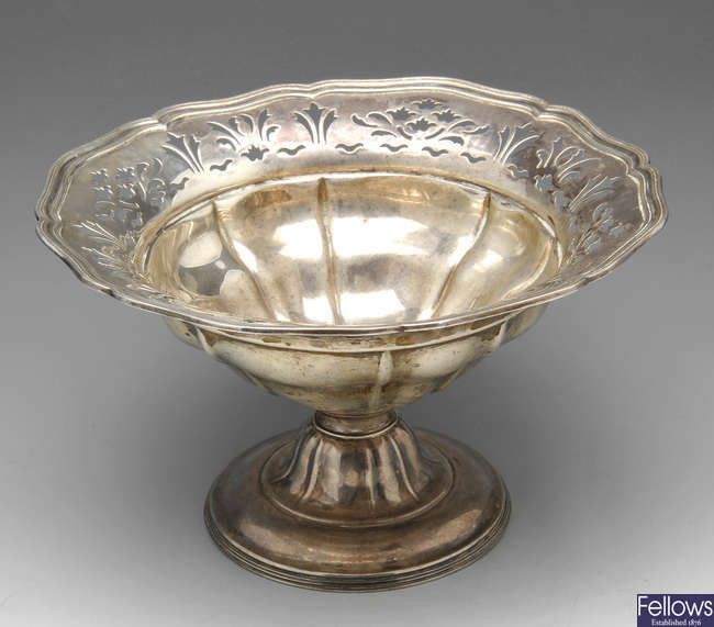 A late Victorian silver comport.