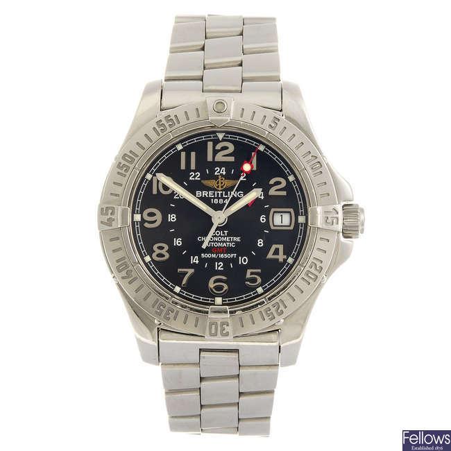BREITLING - a gentleman's Aeromarine Colt GMT bracelet watch.