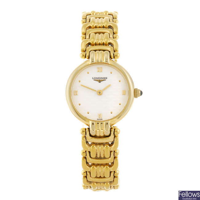 LONGINES - a lady's bracelet watch.