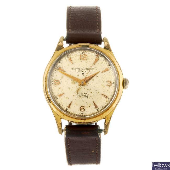 BAUME & MERCIER - a gentleman's wrist watch.