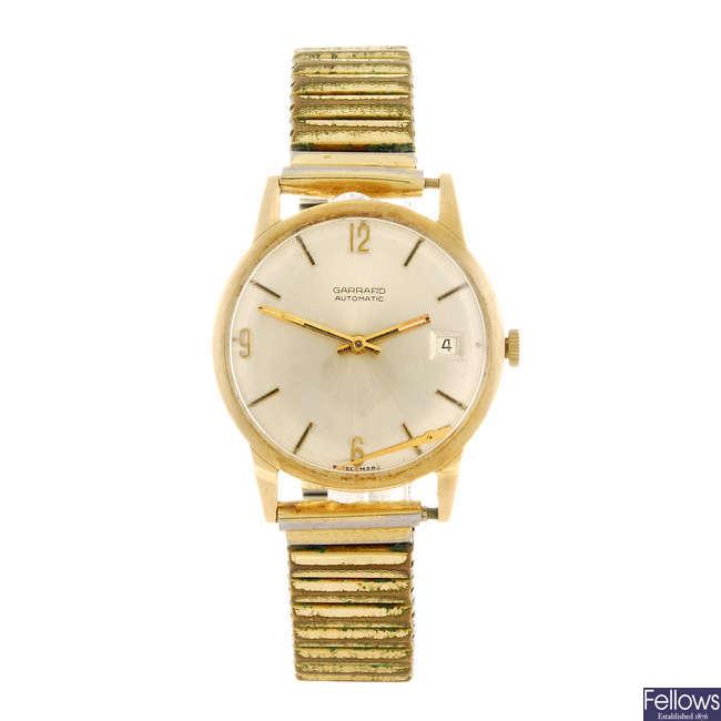 GARRARD - a gentleman's bracelet watch.