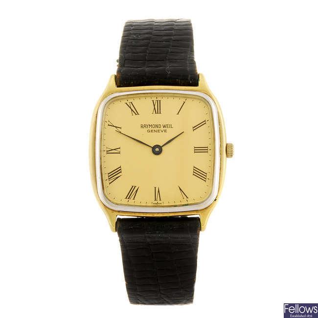 RAYMOND WEIL - a gentleman's wrist watch together with a BMW bracelet watch.