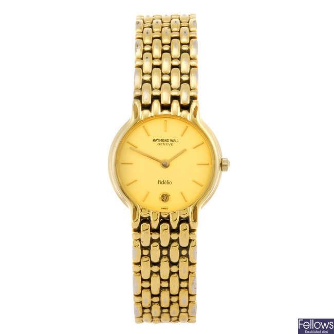 RAYMOND WEIL - a lady's Fidelio bracelet watch.