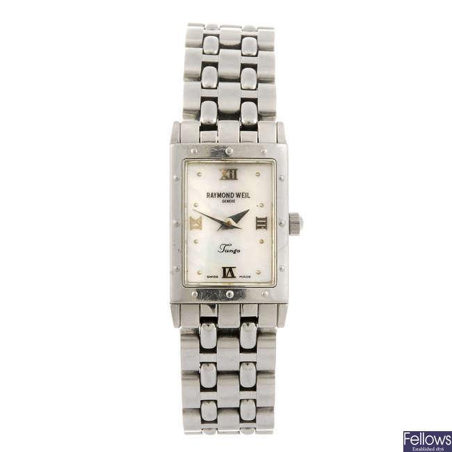 RAYMOND WEIL - a lady's Tango bracelet watch.