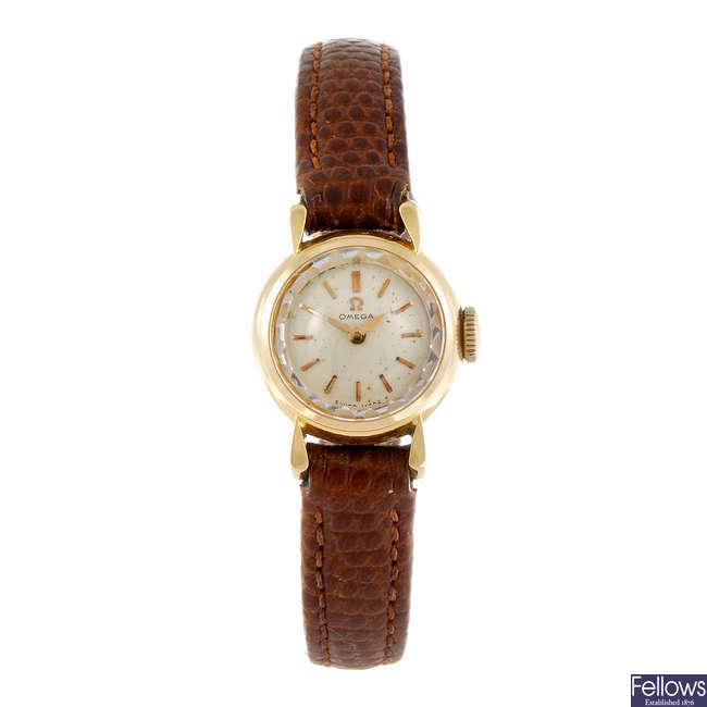 OMEGA - a lady's Omega wrist watch.