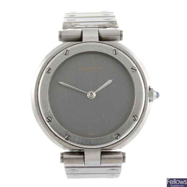 CARTIER - a bracelet watch.