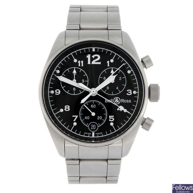 BELL & ROSS - a gentleman's chronograph bracelet watch.