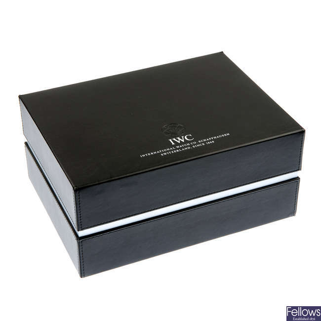 A complete IWC watch box.